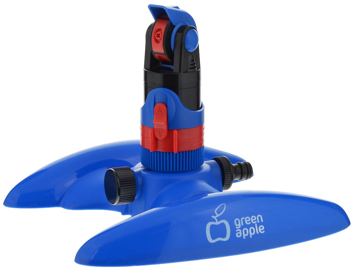 Разбрызгиватель Green Apple GWRS12-044, секторный, вращающийся, с регулируемым углом поливаGWRS12-044Секторный разбрызгиватель Green Apple предназначен для равномерного полива участков площадью до 300 м2. Бесшумная работа, 4 режима регулировки струи воды и возможность задания необходимого сектора позволяют максимально гибко оптимизировать процесс полива. Настройки: - регулировка сектора полива, - регулировка дистанции полива, - переключение режимов. Режимы: - туман: 50° - 19,6 м, - фонтан: 70° - 27 м, - мульти: 50° - 24,3 м, - джет: 50° - 19,6 м.