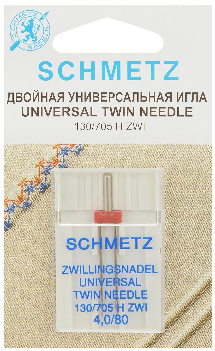 Игла универсальная для зигзаг-машин Schmetz, двойная, №809829Универсальная игла Schmetz выполнена из высококачественной стали и предназначена специально для кантов и одноцветных или двухцветных декоративных швов. Предназначена специально для зигзаг-машин с поперечно расположенным грейфером.Размер иглы: №80. Расстояние между иглами: 4 мм. Система игл: 130/705 H ZWI.