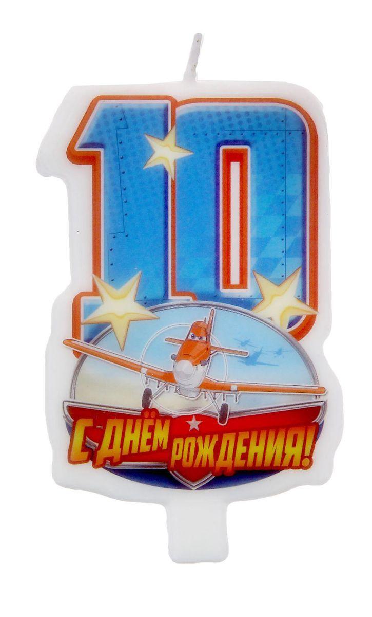 Disney Свеча для торта С днем рождения Цифра 10 Самолеты