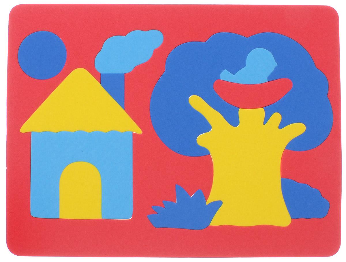 Фантазер Пазл для малышей Дом и дерево цвет основы красный 063551Д_красный