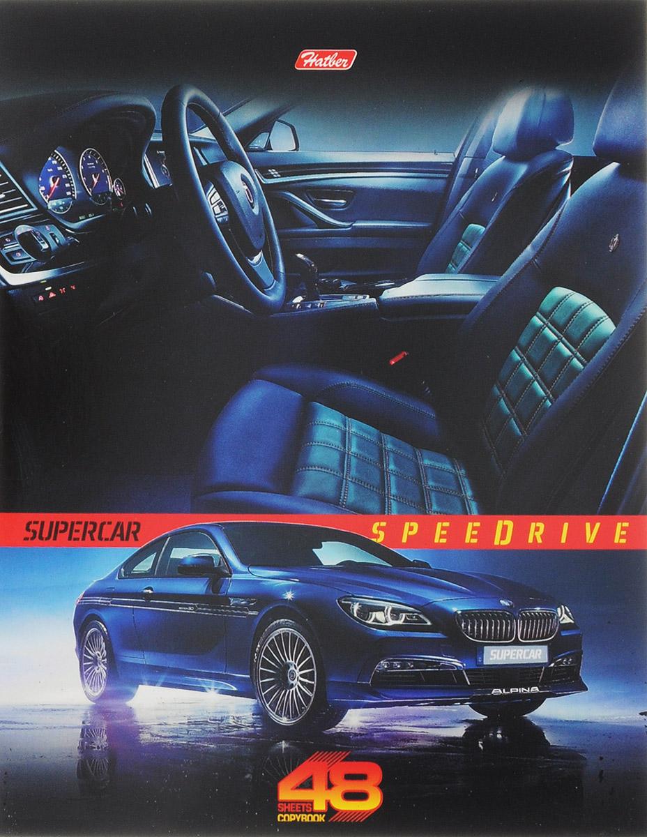 Hatber Тетрадь Super Car 48 листов в клетку цвет машины синий hatber тетрадь экстремалы бездорожья 48 листов в клетку цвет синий