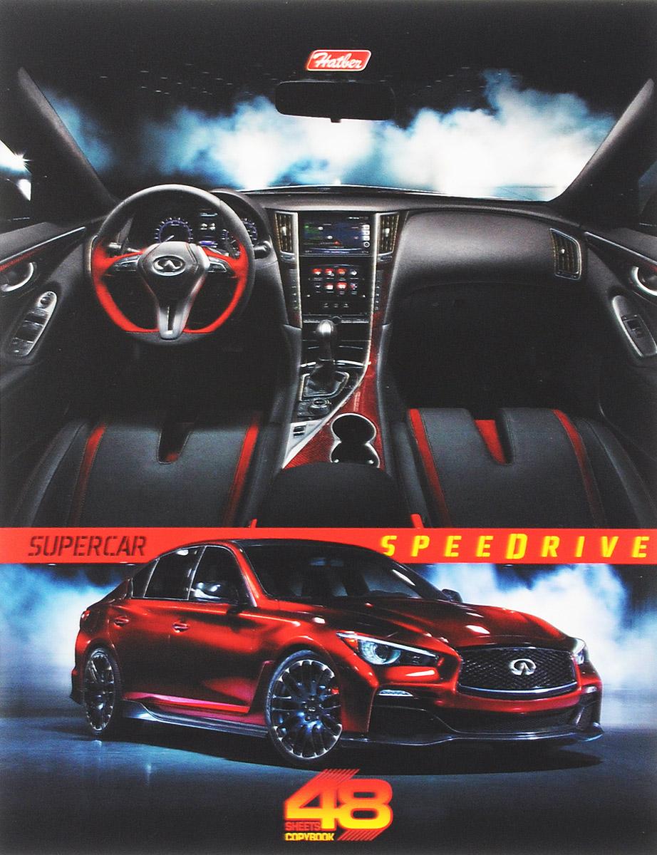 Hatber Тетрадь Super Car 48 листов в клетку цвет машины красный hatber тетрадь экстремалы бездорожья 48 листов в клетку цвет синий