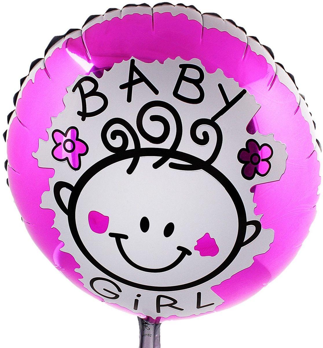 Sima-land Воздушный шарик Маленькая девочка Круг 18 324378