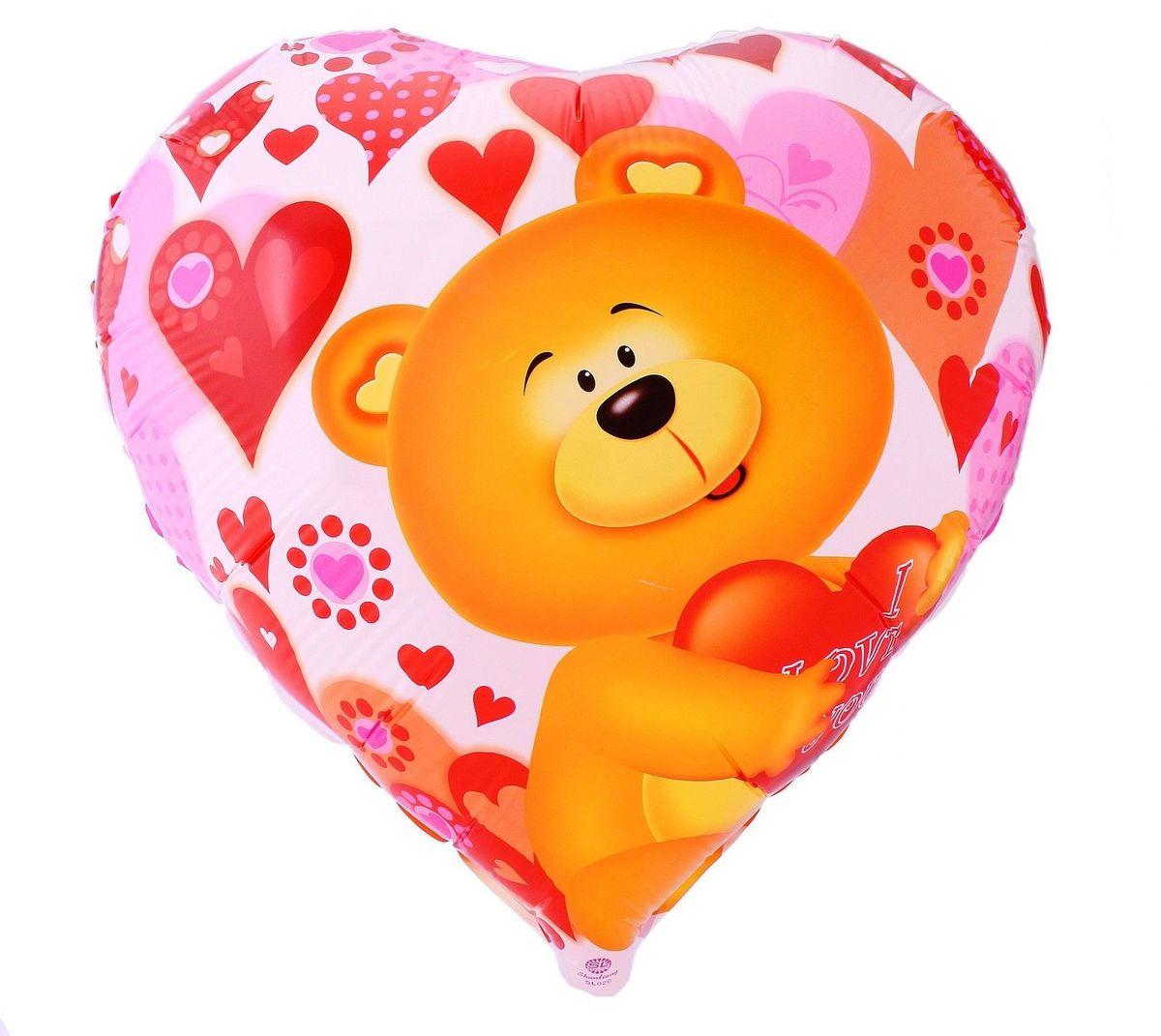 Sima-land Воздушный шарик Мишка с любовь Сердце 18 325814