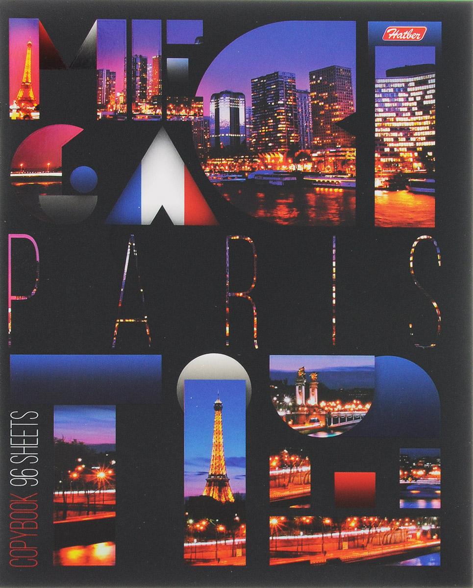 Hatber Тетрадь Paris 96 листов в клетку96Т5вмВ1_14764_ParisСерия тетрадей Megacity - образец сверхпопулярной городской тематики, который претендует если не на статус вечной, то, как минимум, проверенной временем. Яркие фотографии самых известных городов мира смотрятся поистине красиво и пользуются огромной популярностью среди молодежи и заядлых путешественников. Тетрадь Hatber Paris подойдет школьнику, студенту или для различных записей. Обложка тетради выполнена из плотного картона, что позволит сохранить тетрадь в аккуратном состоянии на протяжении всего времени использования. Лицевая сторона тетради украшена фотографиями достопримечательностей Парижа. Внутренний блок тетради, соединенный двумя металлическими скрепками, состоит из 96 листов белой бумаги. Стандартная линовка в клетку голубого цвета дополнена полями.