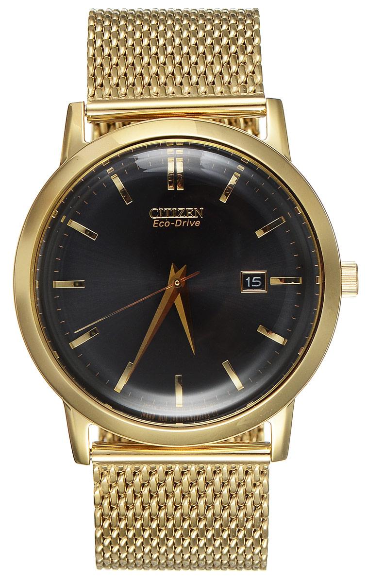 """Часы наручные мужские Citizen """"Eco-Drive"""", цвет: золотой. BM7192-51E"""
