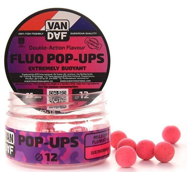 Поп-апы VAN DAF Шелковица, цвет: розовый, диаметр 12 мм, 25 шт57304Поп-апы VAN DAF Шелковица - это невероятно привлекательная насадка с потрясающей видимостью даже в воде с минимальной прозрачностью. Сохраняет положительную плавучесть несколько часов. Поп-апы созданы для традиционной карповой ловли, а в сочетании с жидкими аттрактантами VAN DAF являются отменной насадкой для ловли на FLAT FEEDER (флэт фидер). Поп-апы имеют уникальную мягкую губчатую структуру, отлично впитывающую стимуляторы аппетита и мгновенно отдающую запах в воде. Вы можете без проблем проткнуть их иглой или привязать к волосу. Мягкий и податливый материал легко режется. С помощью ножа или ножниц вы сможете придать любой размер или форму вашей насадке. Каждый POP-UP пропитан ароматизатором с привлекательным для карпа запахом. Яркий флуоресцентный цвет делает насадку на волосе хорошо заметной, а расходящийся от нее запах выделяет ее на дне и провоцирует рыбу на поклевку. Измельчив и добавив их в спод-микс совместно с пеллетсом, зерновыми миксами, резаными бойлами,...