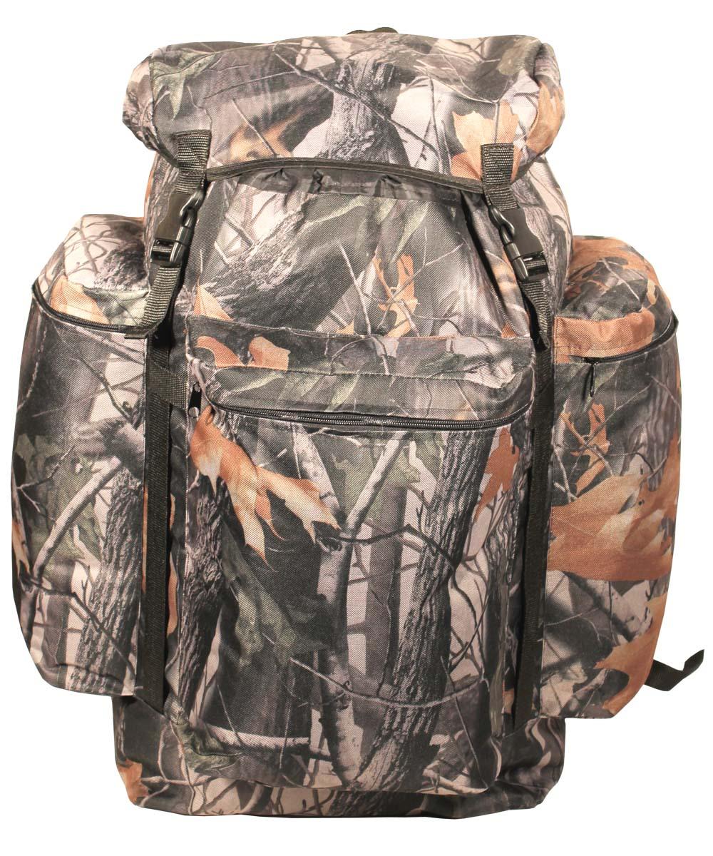 Рюкзак Taif Универсал охотник, цвет: лес, 55 л. 57263800802Простой, надежный рюкзак с верхней загрузкой для загородных прогулок на природе. Компактность рюкзака обеспечит маневренность, а отсутствие высокого верхнего клапана расширит обзор. Технические характеристики: Регулируемые лямки, Одно большое отделение для снаряжения на утяжке с верхним клапаном, Верхний клапан с дополнительным объемом, Регулировка высоты верхнего клапана при помощи стропы и фастекса, Усилительные стропы на фронтальной части и на верхнем клапане, Три объемных кармана на молнии.