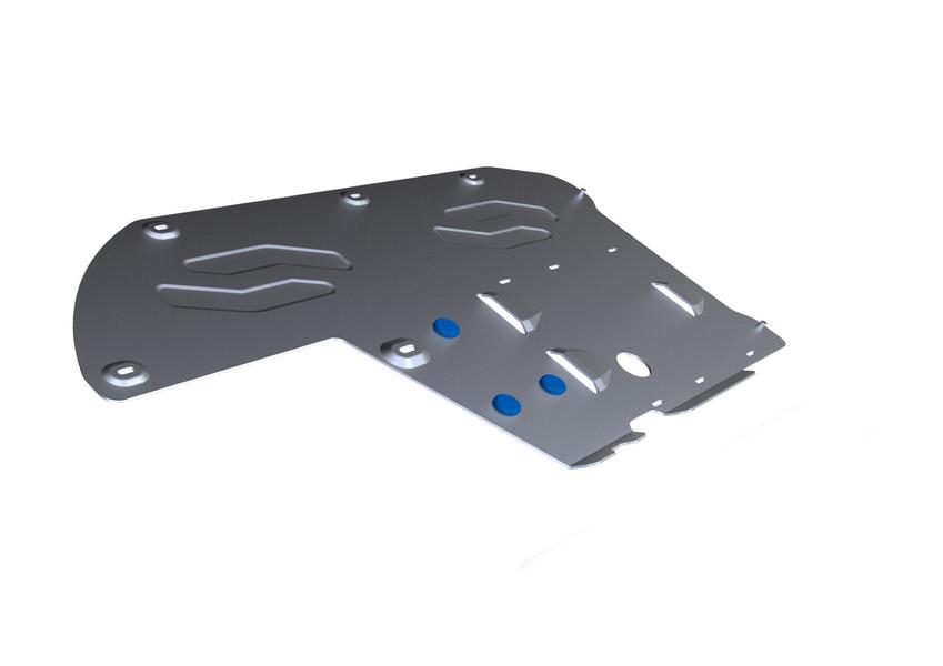 Защита КПП и РК Rival, для BMW 5/GT. 333.0514.3333.0514.3Защита КПП и РК для BMW 5 , 528i xDrive, 530d xDrive 2010-, крепеж в комплекте, алюминий 4 мм, Rival. Надежно защищают днище вашего автомобиля от повреждений, например при наезде на бордюры, а также выполняют эстетическую функцию при установке на высокие автомобили. - Толщина алюминиевых защит в 2 раза толще стальных, а вес при этом меньше до 30%. - Отлично отводит тепло от двигателя своей поверхностью, что спасает двигатель от перегрева в летний период или при высоких нагрузках. - В отличие от стальных, алюминиевые защиты не поддаются коррозии, что гарантирует срок службы защит более 5 лет. - Покрываются порошковой краской, что надолго сохраняет первоначальный вид новой защиты и защищает от гальванической коррозии. - Глубокий штамп дополнительно усиливает конструкцию защиты. - Подштамповка в местах крепления защищает крепеж от срезания. - Технологические отверстия там, где они необходимы для смены масла и...