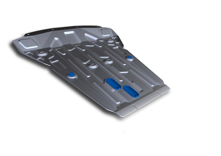Защита картера Rival, для BMW X5. 333.0523.1333.0523.1Защита картера для BMW X5 , 30d 2013-, крепеж в комплекте, алюминий 4 мм, Rival. Надежно защищают днище вашего автомобиля от повреждений, например при наезде на бордюры, а также выполняют эстетическую функцию при установке на высокие автомобили. - Толщина алюминиевых защит в 2 раза толще стальных, а вес при этом меньше до 30%. - Отлично отводит тепло от двигателя своей поверхностью, что спасает двигатель от перегрева в летний период или при высоких нагрузках. - В отличие от стальных, алюминиевые защиты не поддаются коррозии, что гарантирует срок службы защит более 5 лет. - Покрываются порошковой краской, что надолго сохраняет первоначальный вид новой защиты и защищает от гальванической коррозии. - Глубокий штамп дополнительно усиливает конструкцию защиты. - Подштамповка в местах крепления защищает крепеж от срезания. - Технологические отверстия там, где они необходимы для смены масла и слива воды, оборудованные...