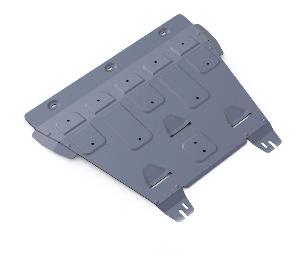 Защита картера и КПП Rival, для FORD Mondeo V. 333.1849.1333.1849.1Защита картера и КПП для Ford Mondeo, 2,5; 2,0(199hp) 2015-, крепеж в комплекте, алюминий 4 мм, Rival. Надежно защищают днище вашего автомобиля от повреждений, например при наезде на бордюры, а также выполняют эстетическую функцию при установке на высокие автомобили. - Толщина алюминиевых защит в 2 раза толще стальных, а вес при этом меньше до 30%. - Отлично отводит тепло от двигателя своей поверхностью, что спасает двигатель от перегрева в летний период или при высоких нагрузках. - В отличие от стальных, алюминиевые защиты не поддаются коррозии, что гарантирует срок службы защит более 5 лет. - Покрываются порошковой краской, что надолго сохраняет первоначальный вид новой защиты и защищает от гальванической коррозии. - Глубокий штамп дополнительно усиливает конструкцию защиты. - Подштамповка в местах крепления защищает крепеж от срезания. - Технологические отверстия там, где они необходимы для смены масла и слива...