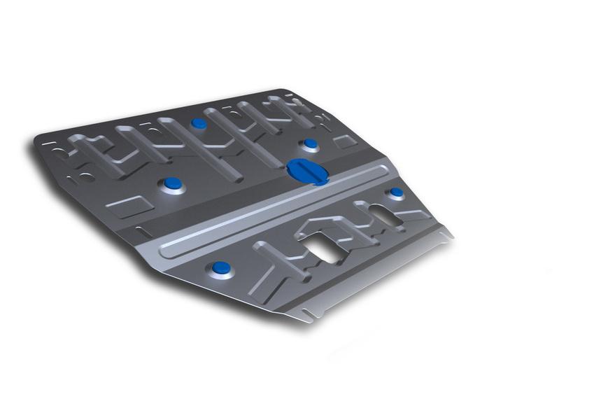 Защита картера и КПП Rival, для Hyundai i40. 333.2342.1333.2342.1Защита картера и КПП для Hyundai i40 , V - 2,0 2012-2015, 2015-, крепеж в комплекте, алюминий 3 мм, Rival. Надежно защищают днище вашего автомобиля от повреждений, например при наезде на бордюры, а также выполняют эстетическую функцию при установке на высокие автомобили. - Толщина алюминиевых защит в 2 раза толще стальных, а вес при этом меньше до 30%. - Отлично отводит тепло от двигателя своей поверхностью, что спасает двигатель от перегрева в летний период или при высоких нагрузках. - В отличие от стальных, алюминиевые защиты не поддаются коррозии, что гарантирует срок службы защит более 5 лет. - Покрываются порошковой краской, что надолго сохраняет первоначальный вид новой защиты и защищает от гальванической коррозии. - Глубокий штамп дополнительно усиливает конструкцию защиты. - Подштамповка в местах крепления защищает крепеж от срезания. - Технологические отверстия там, где они необходимы для смены масла и...