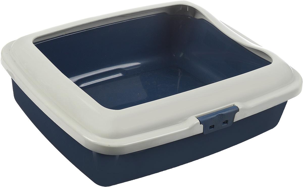 Туалет для кошек Marchioro Goa, с бортом, цвет: синий, бежевый, 43 х 33 х 14 см0120710Туалет для кошек Marchioro Goa изготовлен из качественного итальянского пластика. Высокий борт, прикрепленный по периметру лотка, удобно защелкивается и предотвращает разбрасывание наполнителя. Благодаря специальным резиновым ножкам туалет не скользит по полу.