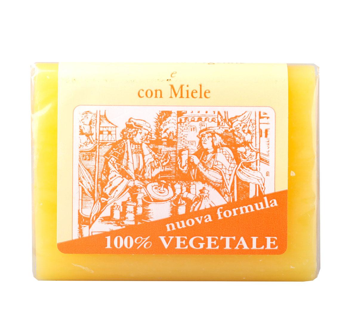 Iteritalia Мыло натуральное глицериновое с медом, 150 г835/833ASНатуральное косметическое глицериновое мыло коллекции МАСТЕРА МЫЛОВАРЫ изготовлено из 100% растительных ингредиентов в соответствии с античными традициями мастеров Саронно. Обогащено глицерином,экстрактом меда, обладает смягчающим и увлажняющим действием. Подходит для всех типов кожи, в том числе для сухой.