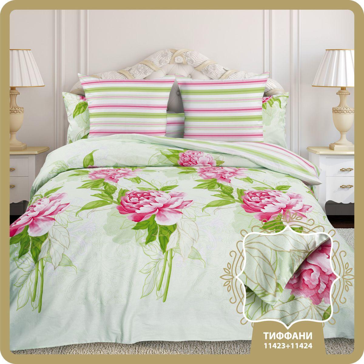 Комплект белья Унисон Тиффани, семейный, наволочки 70 x 70, цвет: белый. 314234314234