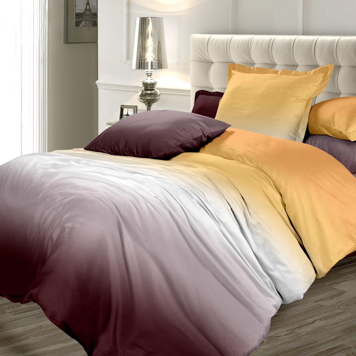 Комплект белья Унисон Осенняя соната, 1,5-спальный, наволочки 70x70DAVC150Сатин – прочная и плотная ткань с диагональным переплетением нитей. Хлопковый сатин по мягкости и гладкости уступает атласу, зато не будет соскальзывать с кровати. Сатиновое постельное белье легко переносит стирку в горячей воде, не выцветает. Прослужит комплект из обычного сатина меньше, чем из сатина повышенной плотности, но дольше белья из любой другой хлопковой ткани. Сатин приятен на ощупь, под ним комфортно спать летом и зимой. Унисон - это несколько серий постельного белья с разными дизайнами: яркий молодежный Унисон teens, Унисон а-ля русс с народными мотивами, утонченная коллекция Акварель и другие.