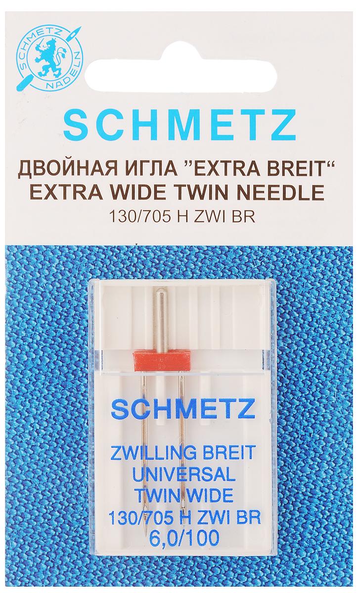 """Игла для зигзаг-машин """"Schmetz"""", двойная, № 100 77:60.2.SES"""