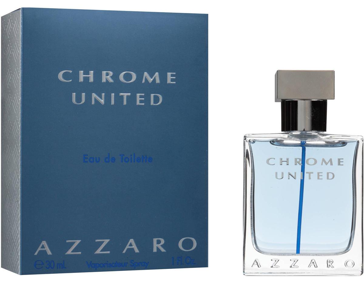 Azzaro Chrome Туалетная вода United, мужская, 30 мл13964Мускусные, пряные. Бергамот, кедр, мускус.