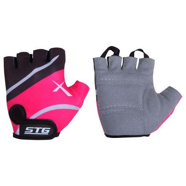 Перчатки велосипедные STG летние, быстросъемные, цвет: розовый. Размер L. Х61872AG-Cycling shoes-26-29Перчатки летние быстросъемные из кожи и лайкры на липучке и с защитной прокладкой. Велосипедные перчатки STG обеспечат надежный хват за руль велосипеда и обезопасят руки от ссадин при внезапном падении. Поставляются в индивидуальной упаковке. Для подбора перчаток необходимо измерить ширину ладони. Измерить ее можно линейкой или сантиметром по середине ладони от указательного пальца до мизинца. Соответствие ширины ладони перчаток: L-9,5см