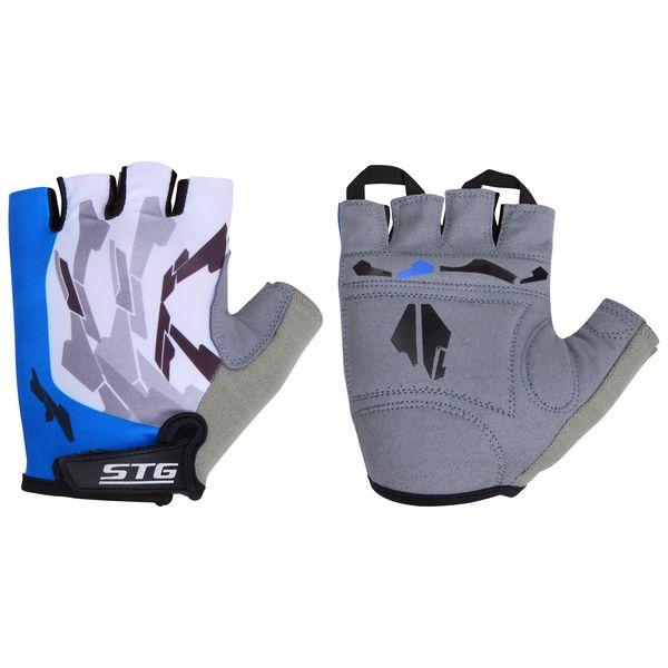 Перчатки велосипедные STG летние, быстросъемные, цвет: синий. Размер L. Х61877AG-Cycling shoes-26-29Перчатки летние быстросъемные из кожи и лайкры на липучке и с защитной прокладкой. Велосипедные перчатки STG обеспечат надежный хват за руль велосипеда и обезопасят руки от ссадин при внезапном падении. Поставляются в индивидуальной упаковке. Для подбора перчаток необходимо измерить ширину ладони. Измерить ее можно линейкой или сантиметром по середине ладони от указательного пальца до мизинца. Соответствие ширины ладони перчаток: L-9,5см