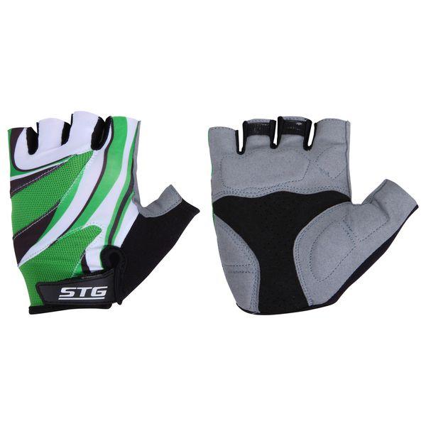 Перчатки велосипедные STG летние, с дышащей системой вентиляции, цвет: зеленый. Размер L. Х61887MW-1462-01-SR серебристыйЛетние перчатки STG с дышащей системой вентиляции. Велосипедные перчатки STG обеспечат комфорт во время катания, гарантируя надежный хват за руль велосипеда, и обезопасят руки от ссадин при внезапном падении. Поставляются в индивидуальной упаковке. Для подбора перчаток необходимо измерить ширину ладони. Измерить ее можно линейкой или сантиметром по середине ладони от указательного пальца до мизинца. Соответствие ширины ладони перчаток: L-9,5см