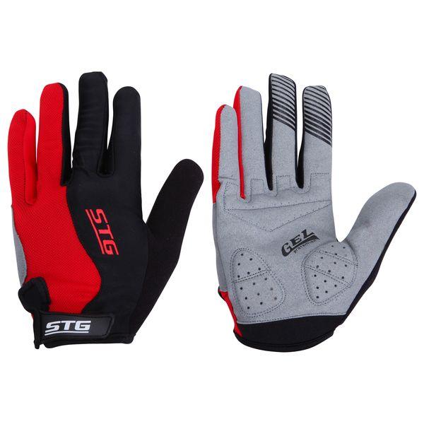 Перчатки велосипедные STG с длинными пальцами, цвет: красный. Размер S. Х66456AG-Cycling shoes-26-29Дышащие велоперчатки из кожи и лайкры. Перчатки на липучке с защитной прокладкой. Велосипедные перчатки STG обеспечат надежный хват за руль велосипеда и обезопасят руки от ссадин при внезапном падении. Поставляются в индивидуальной упаковке. Для подбора перчаток необходимо измерить ширину ладони. Измерить ее можно линейкой или сантиметром по середине ладони от указательного пальца до мизинца. Соответствие ширины ладони перчаток: S-7,5см