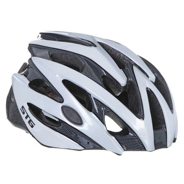 Шлем велосипедный STG MV29-A, цвет: белый. Размер M. Х66753Х66753Велошлем STG - необходимый аксессуар каждого велосипедиста, предназначенный для защиты головы во время катания. Специальные отверстия обеспечивают оптимальную вентиляцию головы. Легкая и технологичная конструкция Out-mold гарантирует безопасность райдеров, катающихся, как в городе, так и по пересеченной местности. Велошлем STG с удобной подкладкой и застежкой, которая комфортно фиксирует шлем на голове велосипедиста - это отличный выбор для ежедневных активных поездок или безопасных прогулок по выходным.