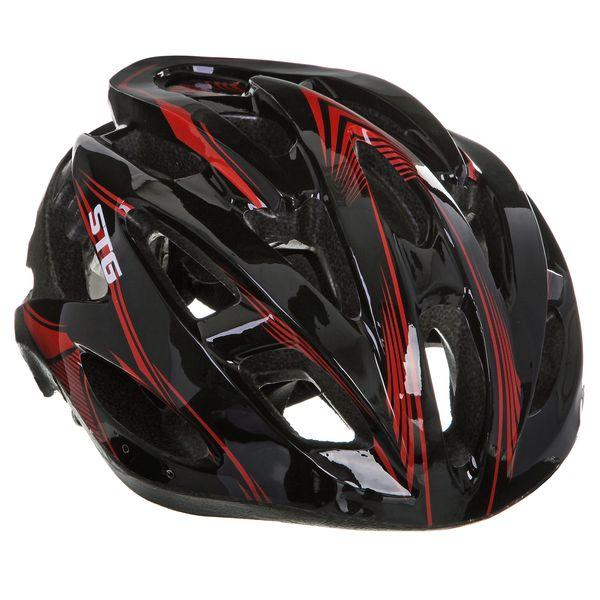 Шлем велосипедный STG MV88-7, цвет: черный. Размер L. Х66756CRL-1Велошлем STG - необходимый аксессуар каждого велосипедиста, предназначенный для защиты головы во время катания. Специальные отверстия обеспечивают оптимальную вентиляцию головы. Легкая и технологичная конструкция Out-mold гарантирует безопасность райдеров, катающихся, как в городе, так и по пересеченной местности. Велошлем STG с удобной подкладкой и застежкой, которая комфортно фиксирует шлем на голове велосипедиста - это отличный выбор для ежедневных активных поездок или безопасных прогулок по выходным.