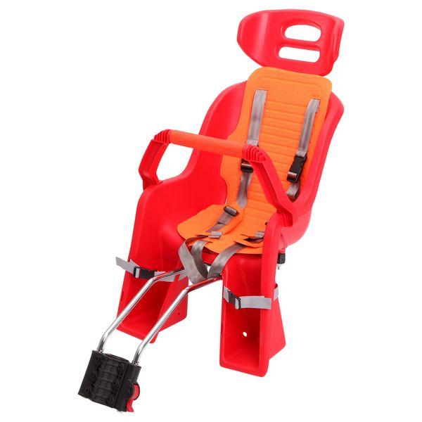 Кресло детское заднее Sunnywheel SW-BC-137, красная накладка. Х698096056Кресло детское заднее Sunnywheel SW-BC-137 выполнено из ударопрочного пластика с мягкой подложкой. Имеет крепление на подседельный штырь. Кресло оснащено ремнями безопасности и дополнительной ручкой, за которую ребенку будет удобно держаться во время поездки. Выдерживает вес до 22 кг. Поручень съемный.