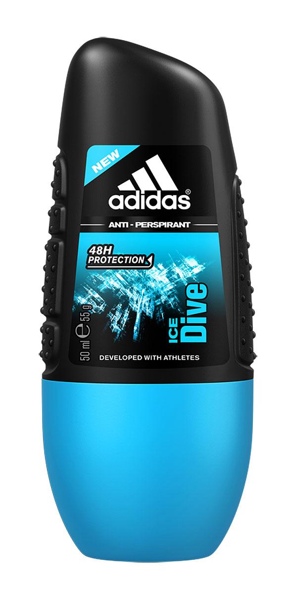 Adidas Дезодорант-антиперспирант ролик Ice Dive, мужской, 50 мл2-1-3-0-1Для мужчин, в жизни которых всегда есть место риску и приключению.
