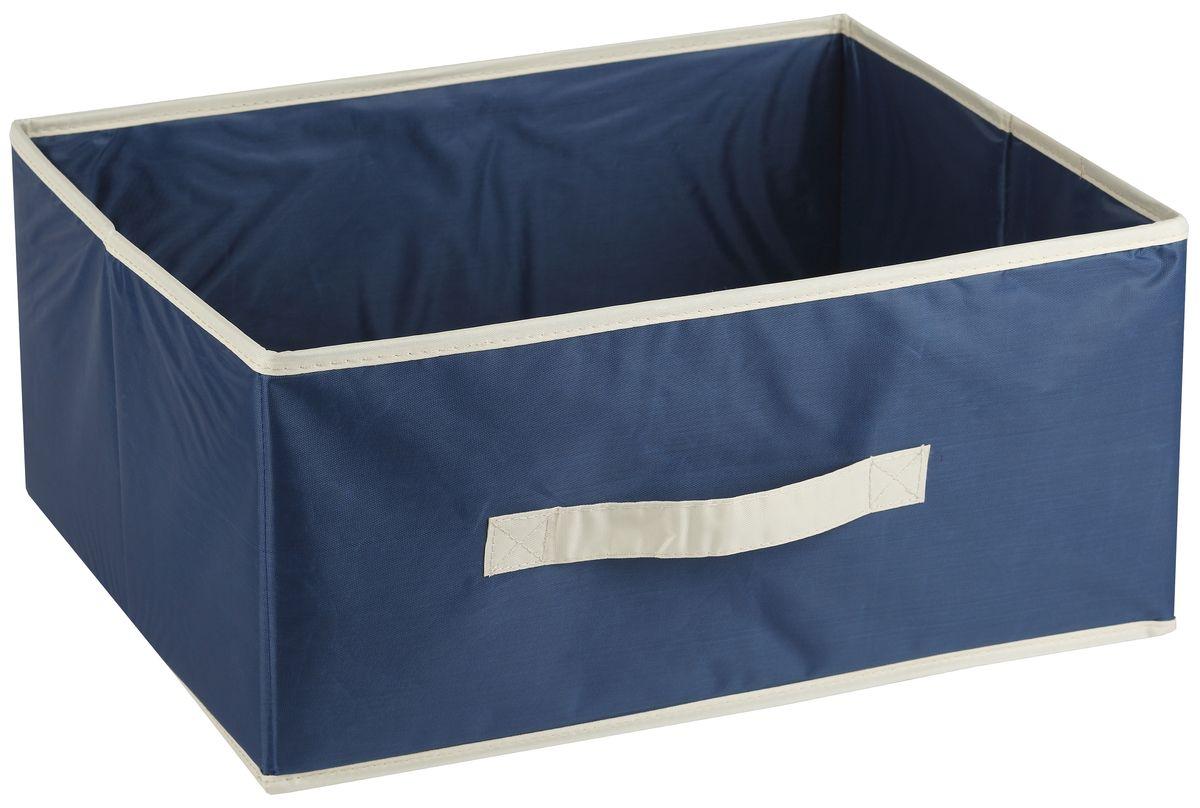 Короб для хранения White Fox Comfort, без крышки, цвет: голубой, 42 х 33 х 19 смWHHH10-363Коллекция Comfort от White Fox изготовлена из полиэстера с пропиткой. Особенность товаров в том, что их можно протирать, в них не накапливается пыль и вещи остаются чистыми. В коллекции представлены самые популярные вещи: подвесные кофры, короба с крышками и без, мягкие чехлы для вещей, чехлы для костюмов. Все изделия упакованы в компактную упаковку, которая имеет подвес. Короба складываются.