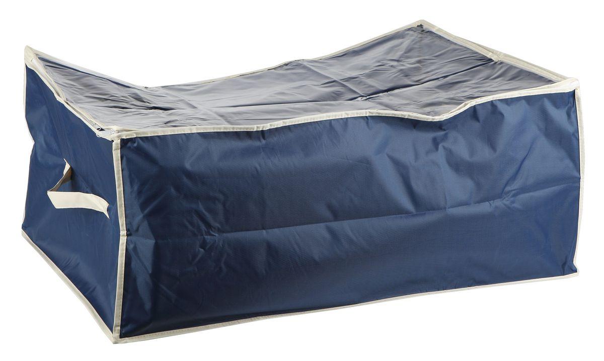 Чехол для хранения вещей White Fox Comfort, цвет: синий, 30 х 50 х 60 см10503Чехол для хранения White Fox Comfort выполнен из высококачественного полиэстера с пропиткой. Особенность данного материала в том, что его можно протирать, в нем не накапливается пыль, и вещи остаются чистыми.Чехол обеспечит надежное хранение вашей одежды и различных вещей, защитит от повреждений, пыли, грязи во время хранения и транспортировки.