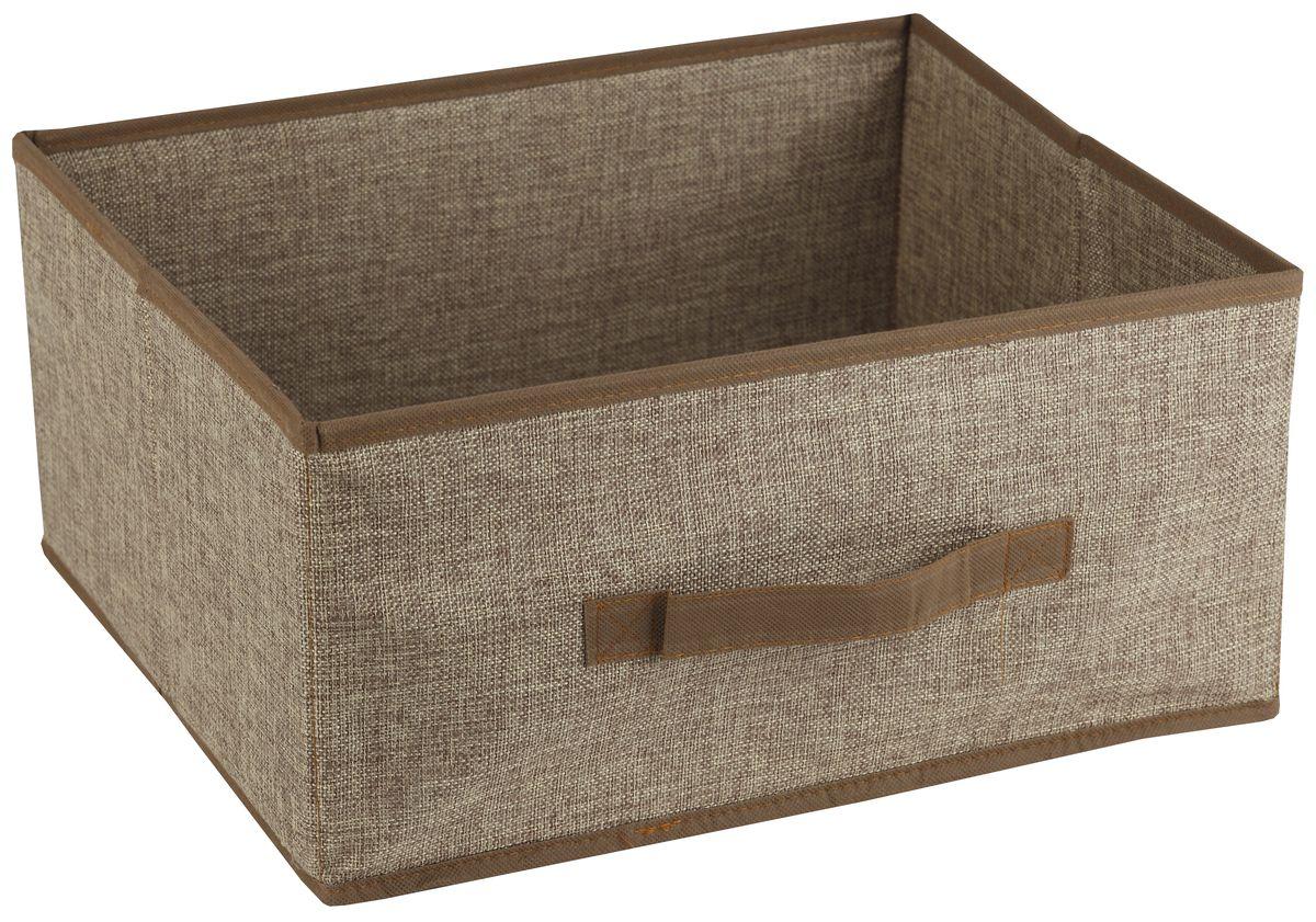 Короб для хранения White Fox Linen, цвет: бежевый, 42 х 33 х 19 смWHHH10-379Короб для хранения White Fox Linen изготовлен из полиэстера стилизованного под лен. Для удобства в обращении имеется ручка. Короб имеет складную конструкцию.