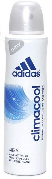 Adidas Антиперспирант спрей Climacool, женский, 150 мл4605845001500Защита - 48 ч. Прекрасное сочетание ухода и защиты от пота. Легкий аромат придаст ощущение комфорта, дополнительный заряд свежести.