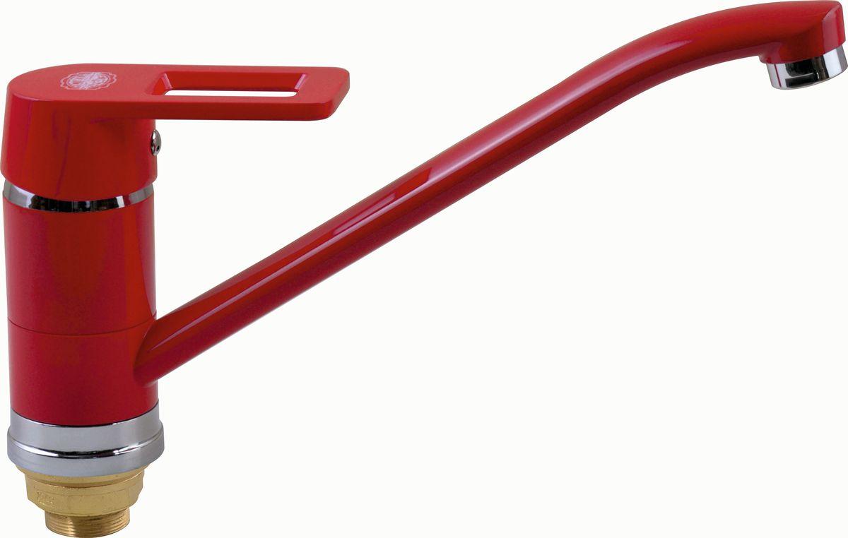 Смеситель для кухни РМС, с длинным поворотным изливом. SL77R-004FBS-25. Цвет: красныйSL77R-004FBS-25Смеситель для кухни с длинным изливом. Картридж: керамический 40мм. Крепление: гайка. Аэратор: пластиковый. Цвет покрытия корпуса: красный. В комплекте: гибкая подводка Особенности: - Крепление на гайке - Керамич.картридж 40мм - Аэратор пластиковый - Гибкая подводка
