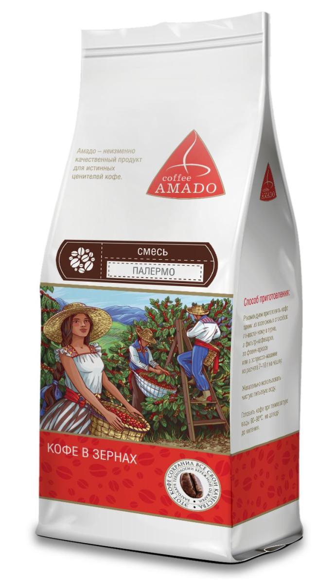 AMADO Палермо кофе в зернах, 200 г4607064134915AMADO Палермо - смесь средней обжарки. Вкус хорошо сбалансирован. Эспрессо очень насыщенный, с красивой пенкой, в послевкусии горький шоколад. Рекомендуемый способ приготовления: по-восточному, френч-пресс, гейзерная кофеварка, фильтр-кофеварка, кемекс, аэропресс.