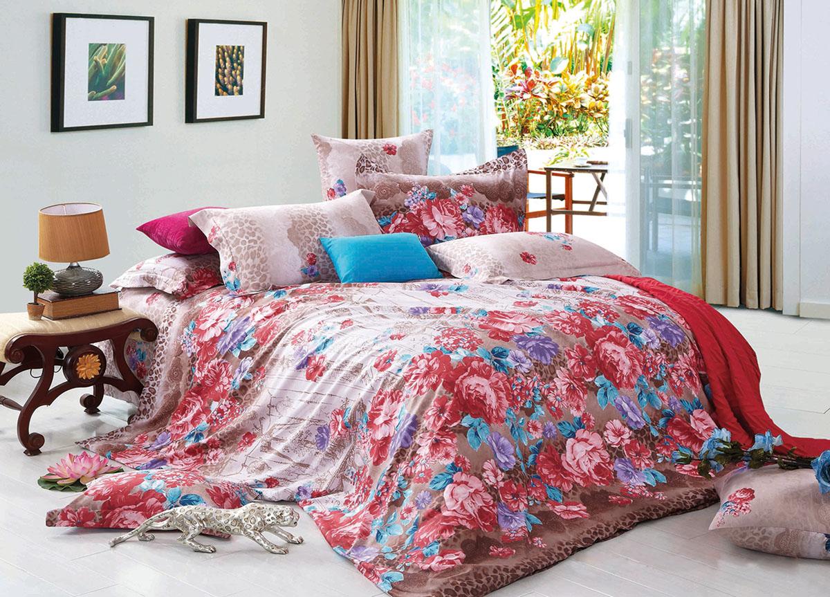 Комплект белья Primavera Classic. Розовые цветы, 2-спальный, наволочки 70x70, цвет: розовый72362Наволочки с декоративным кантом особенно подойдут, если вы предпочитаете класть подушки поверх покрывала. Кайма шириной 5-10см с трех или четырех сторон делает подушки визуально более объемными, смотрятся они очень аккуратно, даже парадно. Еще такие наволочки называют оксфордскими или наволочками «с ушками». Сатин – прочная и плотная ткань с диагональным переплетением нитей. Хлопковый сатин по мягкости и гладкости уступает атласу, зато не будет соскальзывать с кровати. Сатиновое постельное белье легко переносит стирку в горячей воде, не выцветает. Прослужит комплект из обычного сатина меньше, чем из сатина повышенной плотности, но дольше белья из любой другой хлопковой ткани. Сатин приятен на ощупь, под ним комфортно спать летом и зимой. Производство «Примавера» находится в Китае, что позволяет сократить расходы на доставку хлопка. Поэтому цены на это постельное белье более чем скромные и это не сказывается на качестве. Сатин очень гладкий, мягкий, но при этом, невероятно прочный....