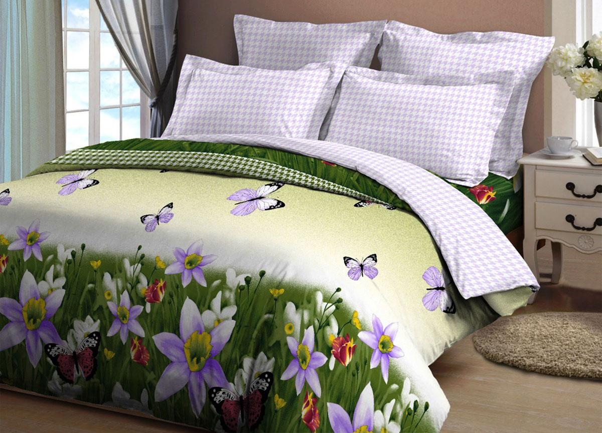 Комплект белья Primavera Инес-2, 2-спальный, наволочки 70x70, цвет: бело-зеленый86579Наволочки с декоративным кантом особенно подойдут, если вы предпочитаете класть подушки поверх покрывала. Кайма шириной 5-10см с трех или четырех сторон делает подушки визуально более объемными, смотрятся они очень аккуратно, даже парадно. Еще такие наволочки называют оксфордскими или наволочками «с ушками». Сатин – прочная и плотная ткань с диагональным переплетением нитей. Хлопковый сатин по мягкости и гладкости уступает атласу, зато не будет соскальзывать с кровати. Сатиновое постельное белье легко переносит стирку в горячей воде, не выцветает. Прослужит комплект из обычного сатина меньше, чем из сатина повышенной плотности, но дольше белья из любой другой хлопковой ткани. Сатин приятен на ощупь, под ним комфортно спать летом и зимой. Производство «Примавера» находится в Китае, что позволяет сократить расходы на доставку хлопка. Поэтому цены на это постельное белье более чем скромные и это не сказывается на качестве. Сатин очень гладкий, мягкий, но при этом, невероятно прочный....