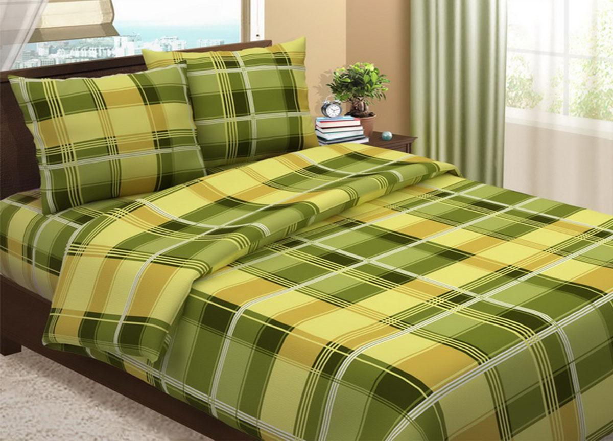Комплект белья Primavera Клетка зеленая, 2-спальный, наволочки 70x70, цвет: зеленый86787Наволочки с декоративным кантом особенно подойдут, если вы предпочитаете класть подушки поверх покрывала. Кайма шириной 5-10см с трех или четырех сторон делает подушки визуально более объемными, смотрятся они очень аккуратно, даже парадно. Еще такие наволочки называют оксфордскими или наволочками «с ушками». Сатин – прочная и плотная ткань с диагональным переплетением нитей. Хлопковый сатин по мягкости и гладкости уступает атласу, зато не будет соскальзывать с кровати. Сатиновое постельное белье легко переносит стирку в горячей воде, не выцветает. Прослужит комплект из обычного сатина меньше, чем из сатина повышенной плотности, но дольше белья из любой другой хлопковой ткани. Сатин приятен на ощупь, под ним комфортно спать летом и зимой. Производство «Примавера» находится в Китае, что позволяет сократить расходы на доставку хлопка. Поэтому цены на это постельное белье более чем скромные и это не сказывается на качестве. Сатин очень гладкий, мягкий, но при этом, невероятно прочный....