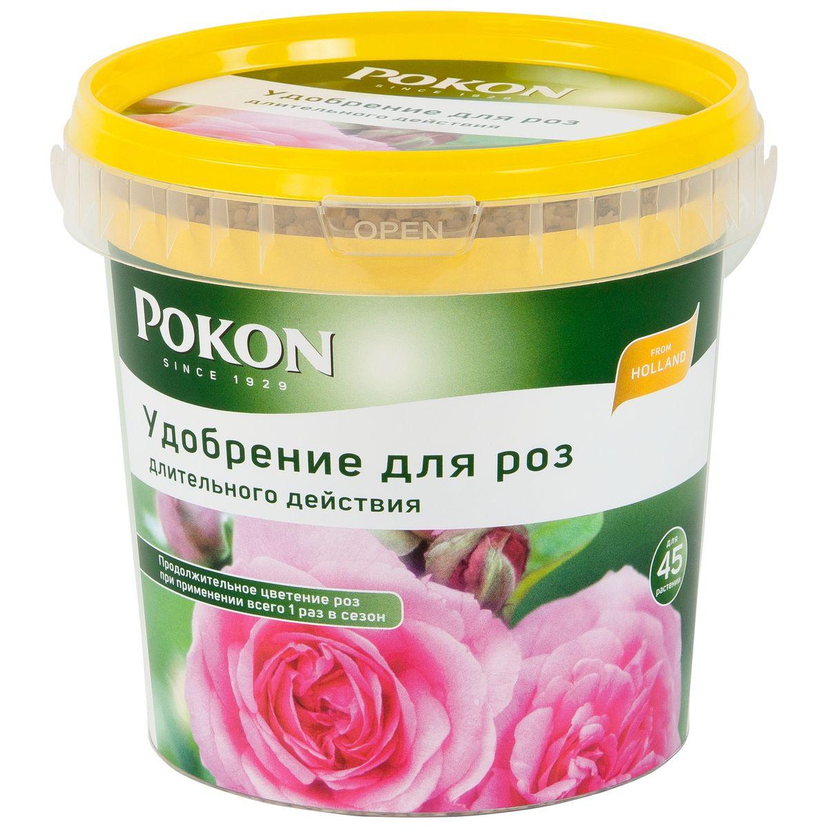 Удобрение Pokon для роз длительного действия, 900 г8711969016118Удобрение Pokon для роз длительного действия: NPK 17 + 16 + 17 с добавкой 2 MgO + 1 Fe. Это удобрение Pokon содержит как раз столько азота, фосфора и калия, сколько нужно для здоровья и красоты ваших роз. А добавка железа увеличивает их восприимчивость к свету. В удобрении есть все необходимое, чтобы розы цвели все лето — часто и обильно. Достаточно внести это удобрение один раз, и затем питательные вещества будут постепенно высвобождаться и проникать в растения в течение сезона под воздействием дождей и солнца. Инструкция по применению: - Вносите удобрение 1 раз в год, желательно весной или при посадке растений. - Отмерьте нужное количество гранул (1 мерная ложечка на 1 растение или 1,5 мерной ложечки на 1 кв. м). - Равномерно насыпьте гранулы вокруг стеблей. - Смешайте гранулы с верхним слоем грунта. - Полейте грунт, и удобрение немедленно начнет действовать. - Не используйте при температуре выше +25 градусов и под прямыми солнечными...