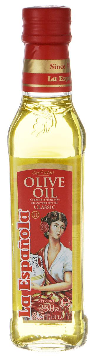 La Espanola масло оливковое рафинированное, 250 мл0120710Оливковое масло La Espanola - это высококачественное рафинированное масло с добавлением нерафинированного. Оно идеально подходит для жарки, поскольку обладает высокой температурой нагревания, сохраняет свою структуру, а, значит, все полезные свойства. Оливковое масло также идеально подходит для заправки салатов. Продукт обладает приятным ароматом, который украсит любое приготовленное вами блюдо. Оливковое масло La Espanola изготавливается в Испании группой компаний Aceites del Sur, которая производит оливковое масло с 1840 года, что сделало ее экспертом в этой области. Использование традиционных методов производства оливкового масла и строгий контроль качества на каждом этапе производственной цепочки позволяет снабжать рынок продукцией самого высокого качества.