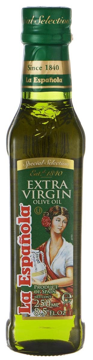 La Espanola Extra Virgin масло оливковое нерафинированное, 250 мл0120710Нерафинированное оливковое масло La Espanola, полученное методом холодного прессования, это ценнейший диетический, оздоровительный продукт для правильного и рационального питания, который легче других масел усваивается организмом. Масло идеально подходит для жарки, поскольку обладает высокой температурой нагревания, сохраняет свою структуру, а, значит, все полезные свойства. Оливковое масло также идеально подходит для заправки салатов. Продукт обладает приятным ароматом, который украсит любое приготовленное вами блюдо. Оливковое масло La Espanola изготавливается в Испании группой компаний Aceites del Sur, которая производит оливковое масло с 1840 года, что сделало ее экспертом в этой области. Использование традиционных методов производства оливкового масла и строгий контроль качества на каждом этапе производственной цепочки позволяет снабжать рынок продукцией самого высокого качества.