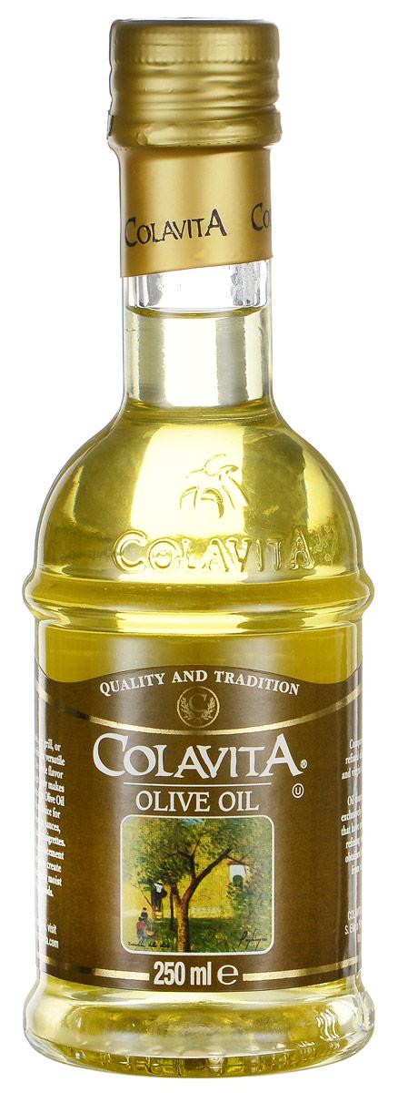 Colavita масло оливковое рафинированное, 250 млCLOLTM250Оливковое масло Colavita - это высококачественное рафинированное масло, полученное из лучших сортов итальянских оливок с добавлением нерафинированного масла первого холодного отжима. Масло одинаково хорошо подходит для заправки салатов, приготовления пищи на сковороде и на гриле, а также для выпечки. Тонкий вкус и низкая калорийность делают это масло отличным выбором для приготовления маринадов, соусов, супов, заправок.