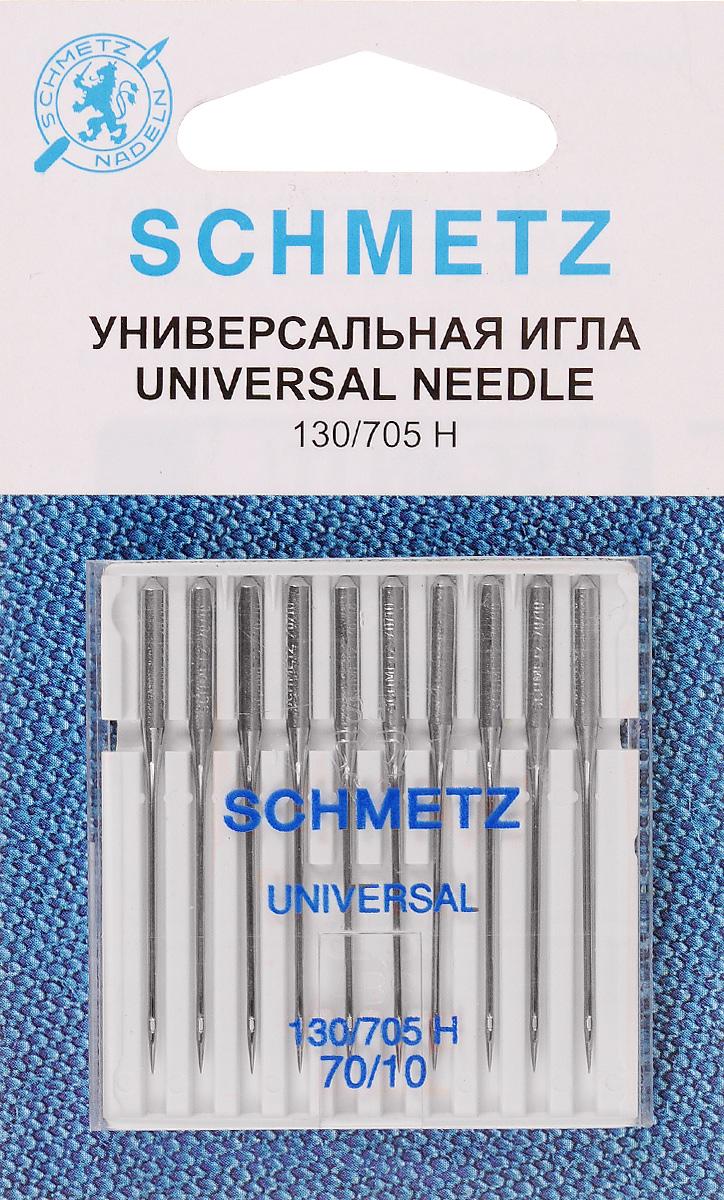 Набор игл Schmetz, №70, 10 шт22:15.2.XBSНабор Schmetz состоит из 10 игл для бытовых швейных машин. Изделия выполнены из высококачественной стали. Предназначены для вязаных изделий и трикотажа. Комплектация: 10 шт. Размер игл: №70. Система игл: 130/705 H.
