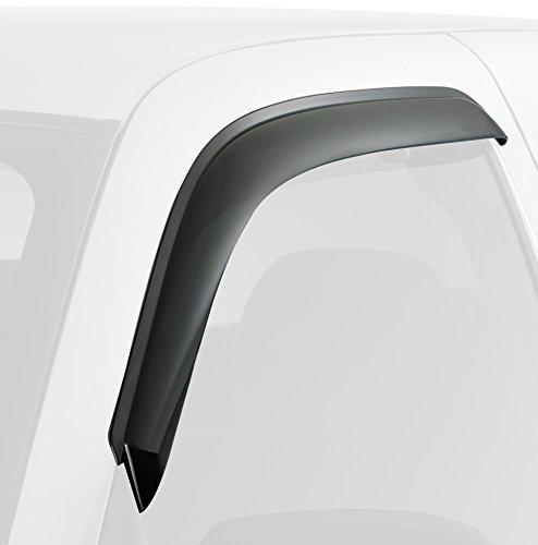 Дефлекторы окон SkyLine Nissan Navara / Frontier 05-, 4 штSL-WV-156Акриловые ветровики высочайшего качества. Идеально подходят по геометрии. Усточивы к УФ излучению. 3М скотч.