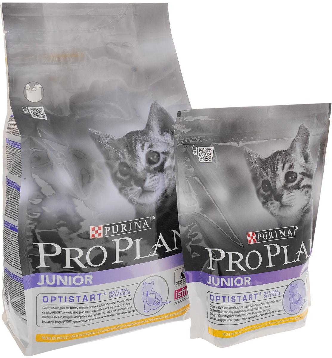 Корм сухой Pro Plan Junior Optistart для котят, с курицей, 1,5 кг + Корм сухой Pro Plan Junior Optistart для котят, с курицей, 400 г12275546Сухой корм Pro Plan Junior Optistart - это полноценный рацион для котят от 6 недель до 1 года. Он содержит особую разработанную с участием ученых комбинацию ингредиентов для поддержания здоровья вашего питомца в течение продолжительного времени. Особенности сухого корма: укрепляет здоровье кишечника котят и уменьшает риск расстройств пищеварения, усиливает иммунную систему благодаря молозиву, богатому антителами, поддерживает здоровый рост костей и мускулатуры, помогает поддерживать здоровое развитие мозга и зрения. Анализ: белок 40%, жир 20%, сырая зола 6,5%, сырая клетчатка 0,5%. Добавки на кг: витамин А 36 400, витамин D3 1180, витамин Е 750 мг/кг, железо 335, йод 4, медь 68, марганец 160, цинк: 570, селен 0,38 мг/кг. Товар сертифицирован.