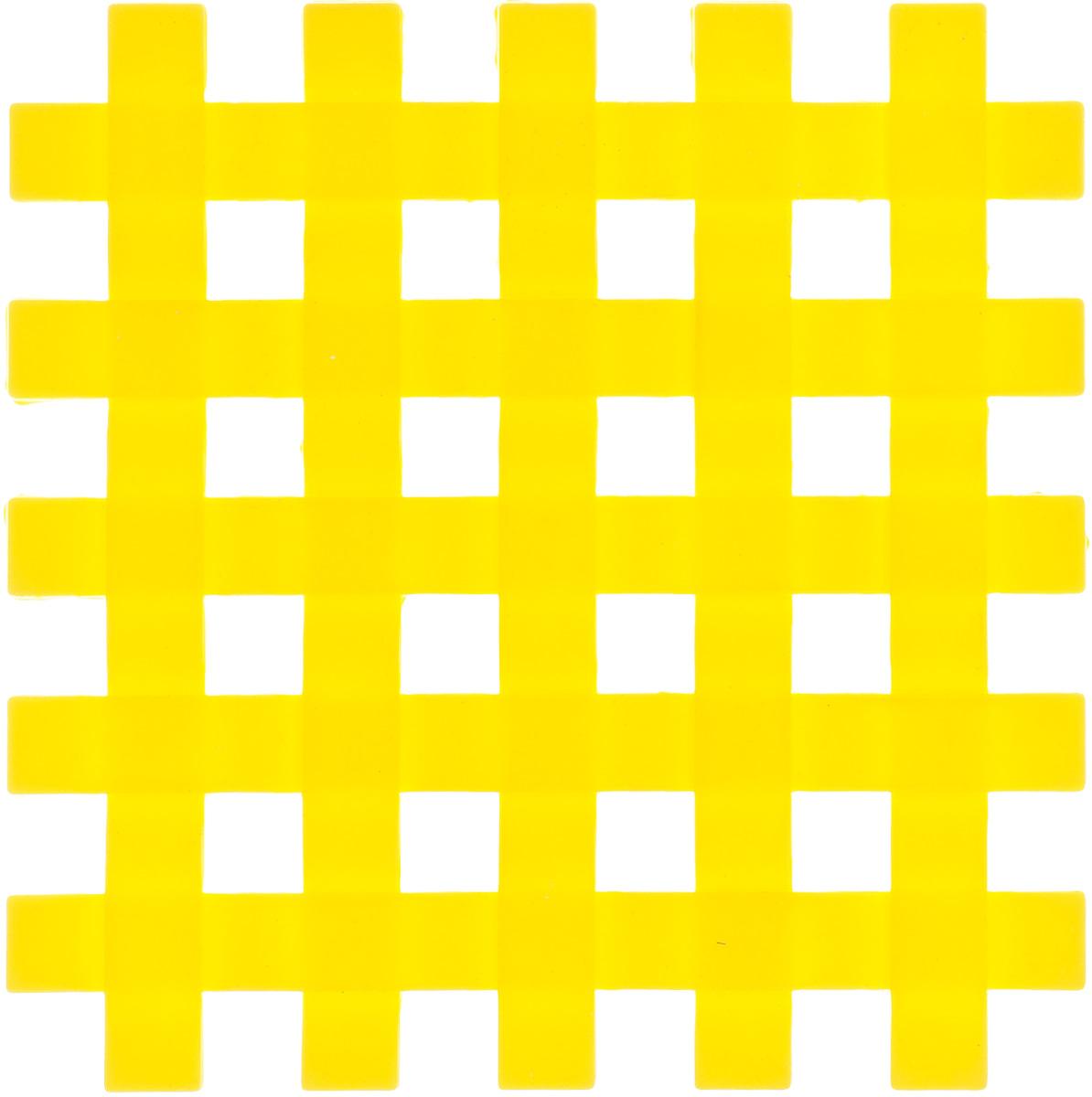 Подставка под горячее Mayer & Boch, силиконовая, цвет: желтый, 17 х 17 смVT-1520(SR)Подставка под горячее Mayer & Boch изготовлена из силикона и оформлена в виде сетки. Материал позволяет выдерживать высокие температуры и не скользит по поверхности стола.Каждая хозяйка знает, что подставка под горячее - это незаменимый и очень полезный аксессуар на каждой кухне. Ваш стол будет не только украшен яркой и оригинальной подставкой, но также вы сможете уберечь его от воздействия высоких температур.