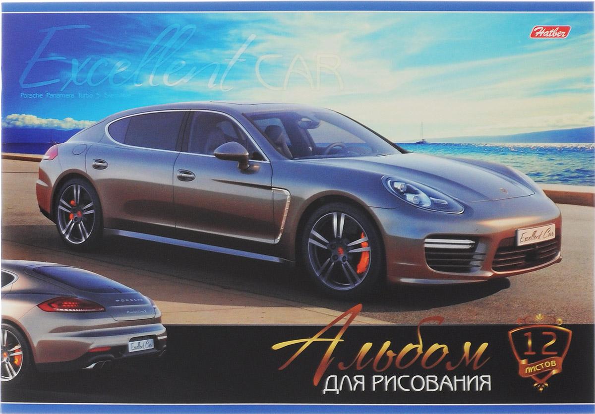 Hatber Альбом для рисования Porsche Panamera Turbo S Executive 12 листов 12А4В_15263