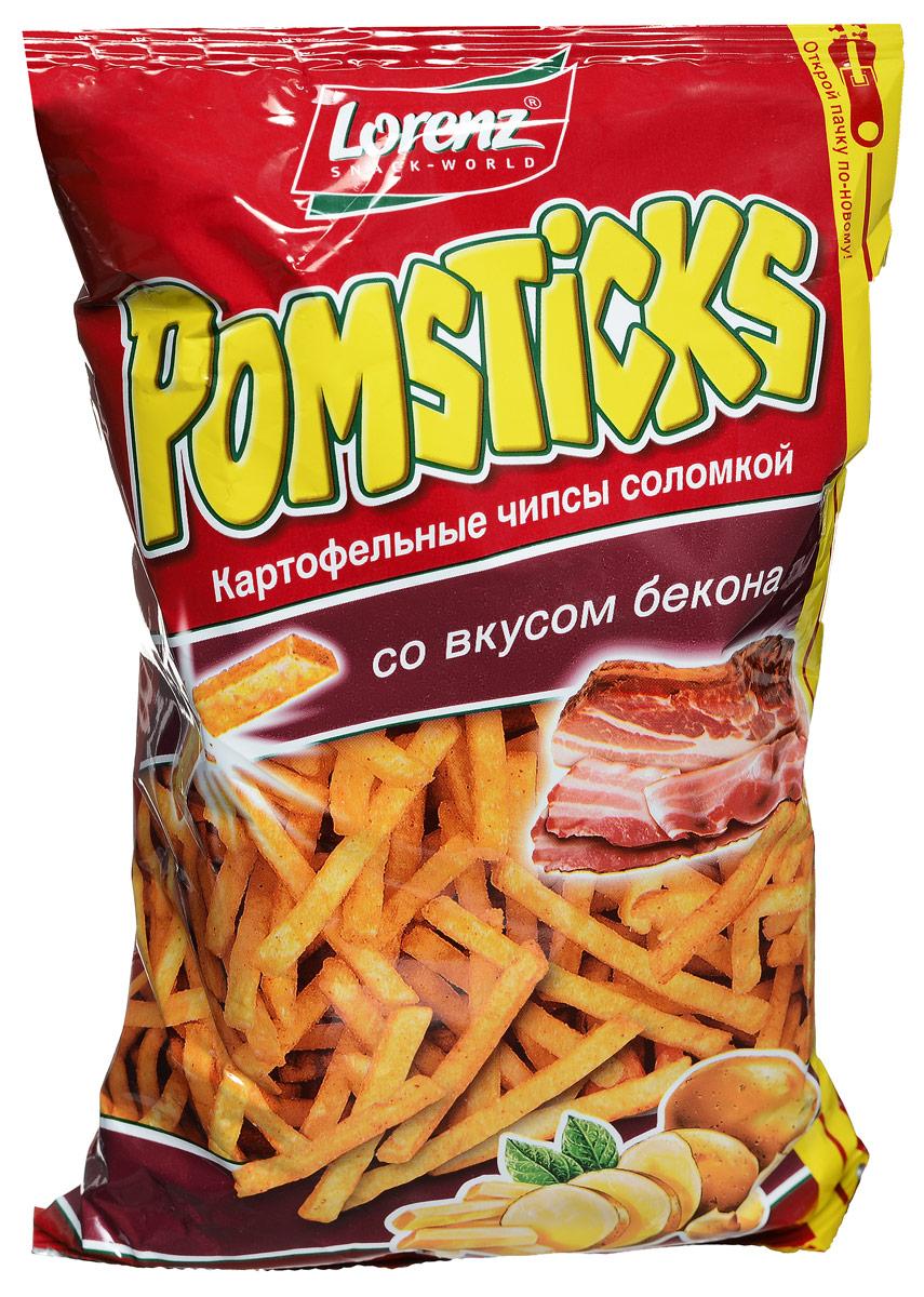Lorenz Pomsticks картофельные чипсы со вкусом бекона, 100 г бзе061