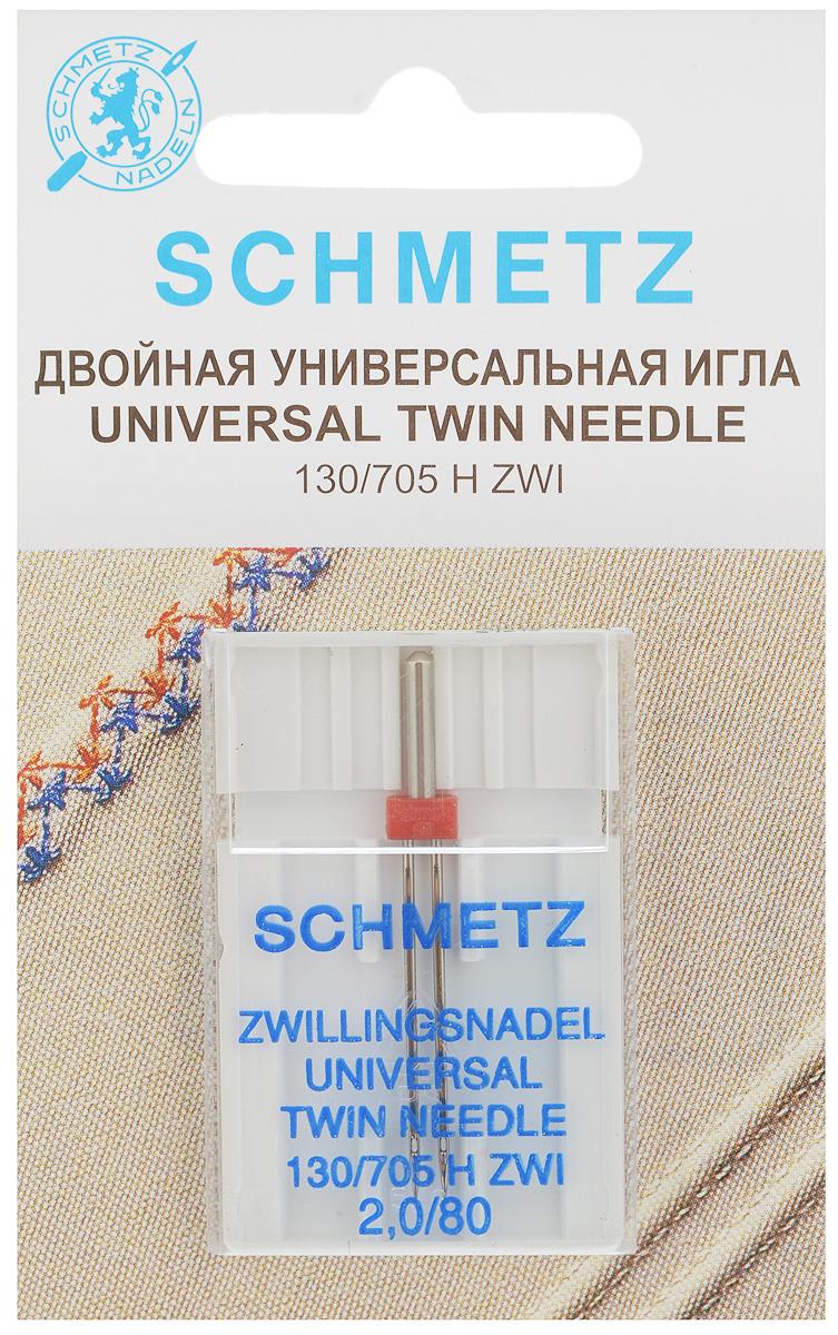 """Игла универсальная для зигзаг-машин """"Schmetz"""", двойная, №2,0/80 70:20.2.SCS"""